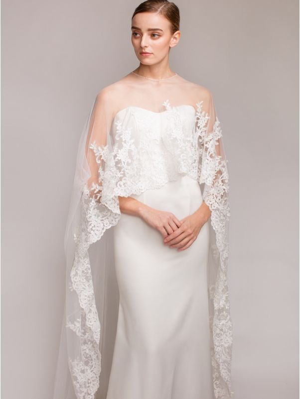 Beaded Tulle Cape