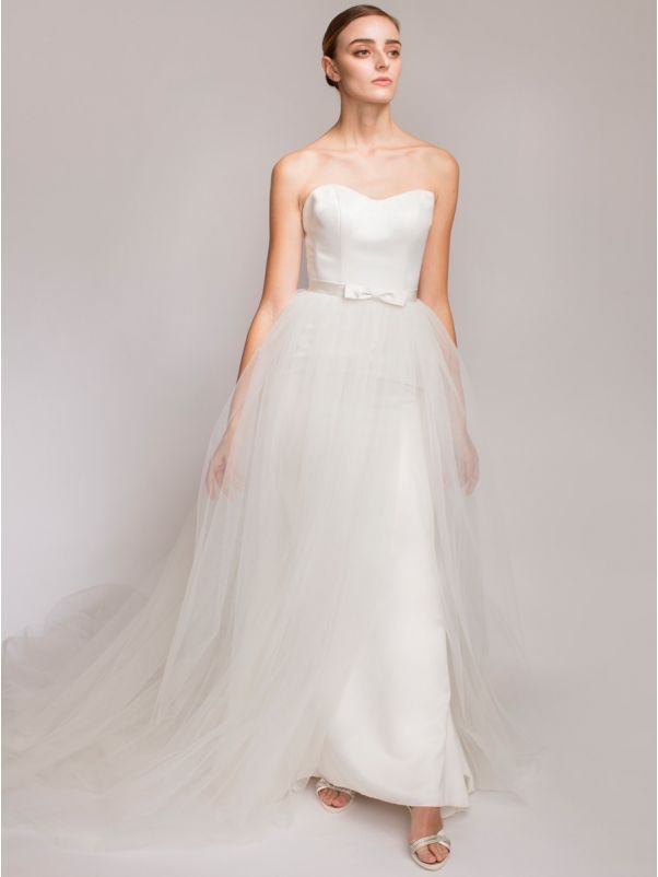 Tulle Overskirt with Satin Ribbon