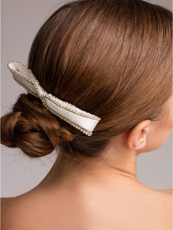 Embellished Satin Ribbon Bridal Comb