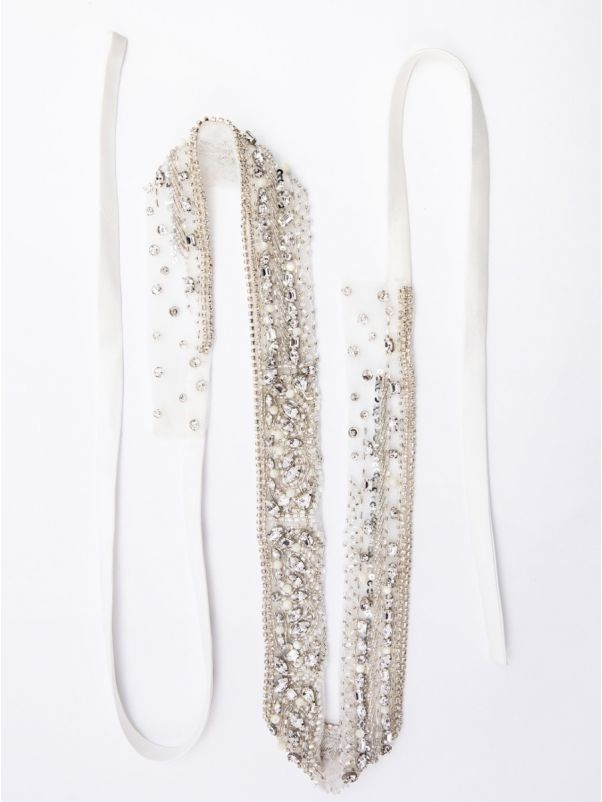 Embellished Satin Bridal Belt