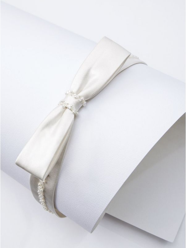 Beaded Satin Bridal Belt
