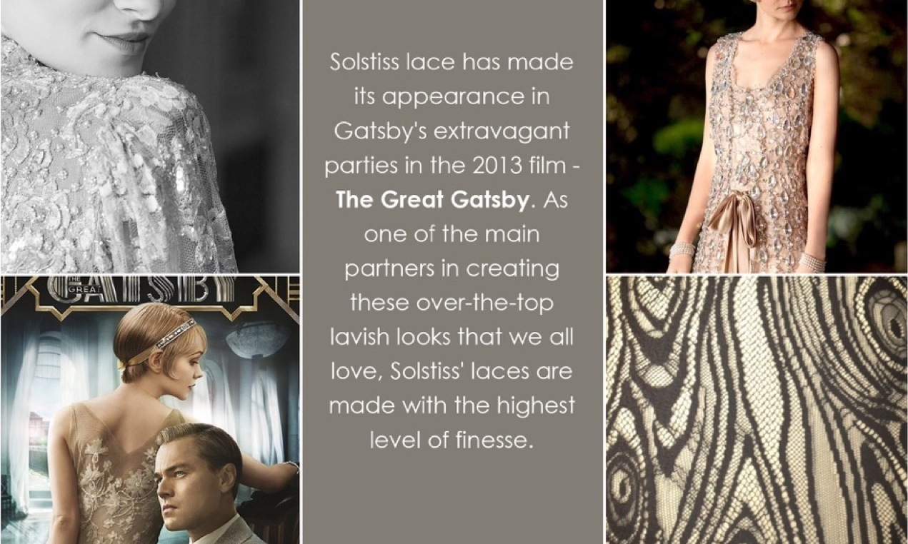 The Great Gatsby – Crafted with finest Solstiss French lace